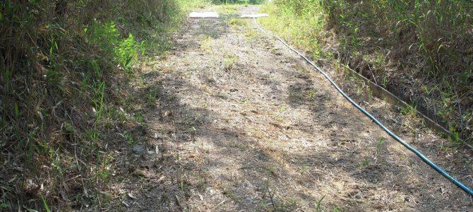 キャンプサイトの水道修繕